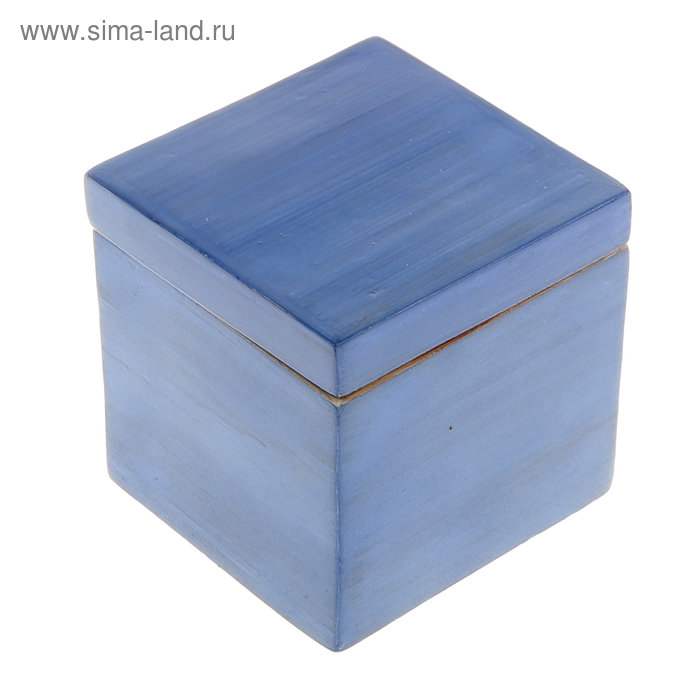 "Шкатулка бамбуковая ""Синий лак"", малая"