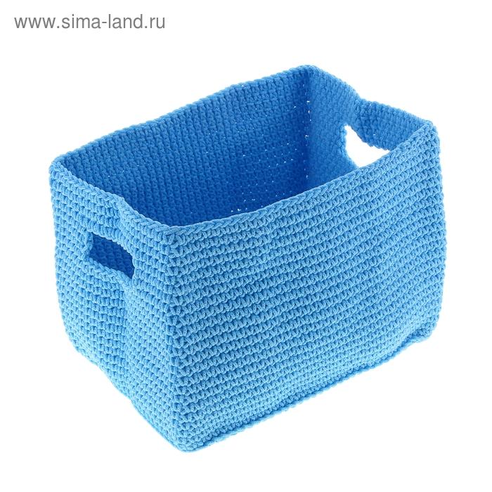 """Корзина """"Короб"""" голубая"""