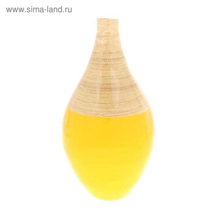 "Ваза интерьерная ""Жёлтый глянец"", бамбук"