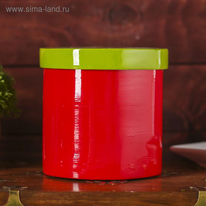 """Емкость для хранения """"Красное и зелёное"""", бамбук"""