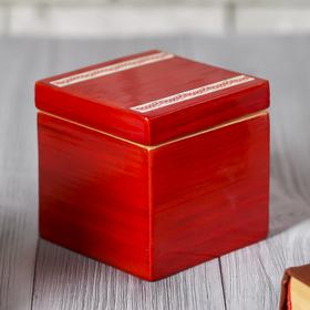 Шкатулка бамбуковая 'Красный лак', малая Ош