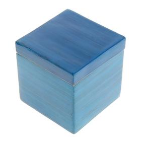 Шкатулка бамбуковая 'Голубой лак', малая Ош