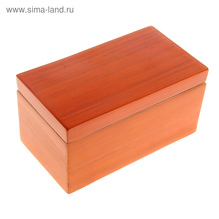 "Шкатулка бамбуковая ""Оранжевый лак"""