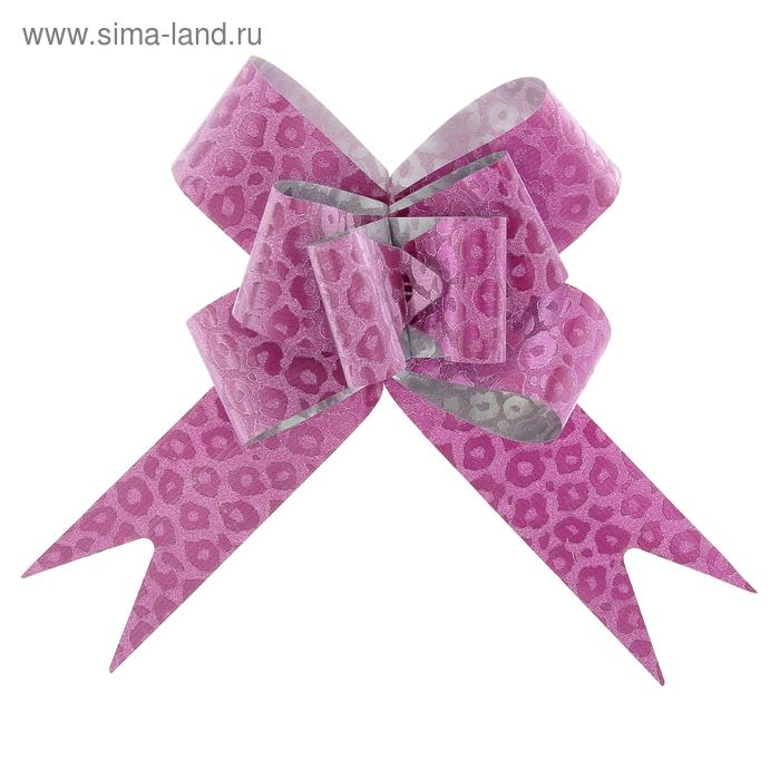 "Бант-бабочка № 4,5 ""Леопард"", цвет малиновый"