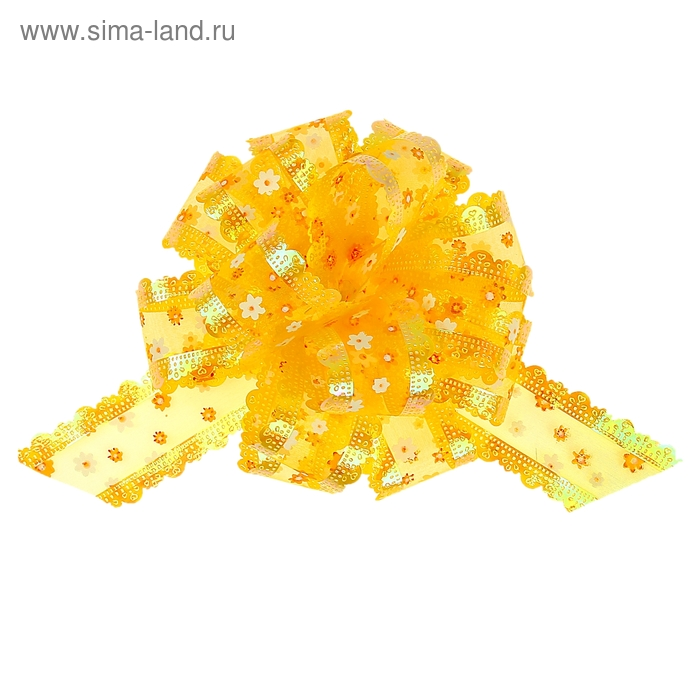 "Бант-шар № 5 ""Цветочки"", цвет жёлтый"