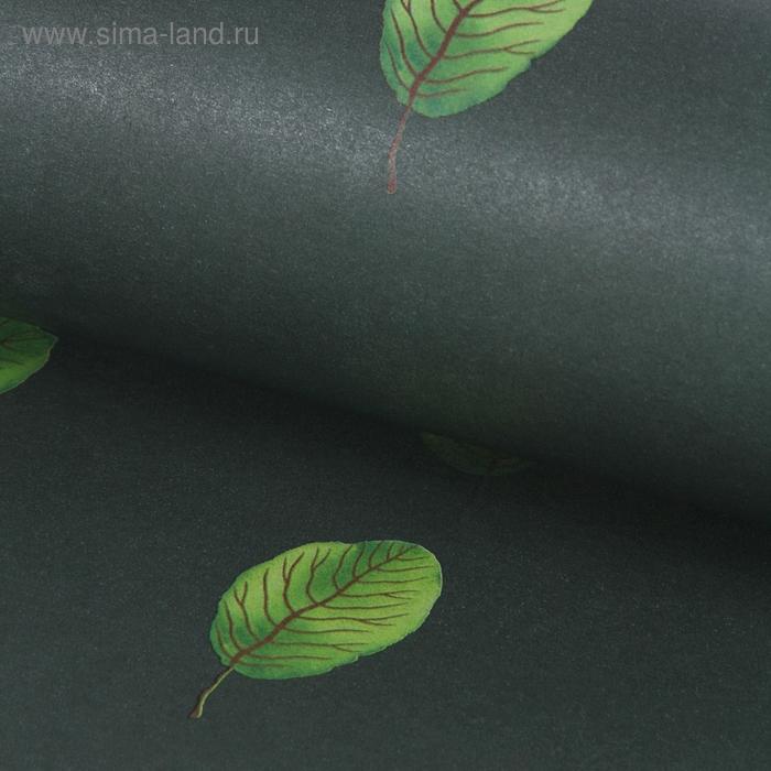 """Бумага упаковочная двухсторонняя """"Листопад"""", цвет зелёный"""