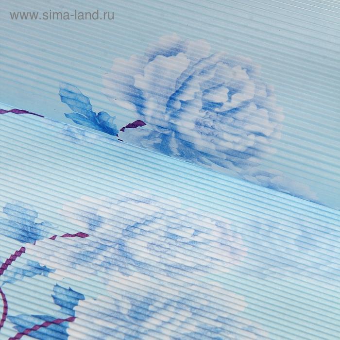 """Бумага гофрированная """"Пышные цветы"""", цвет голубой"""