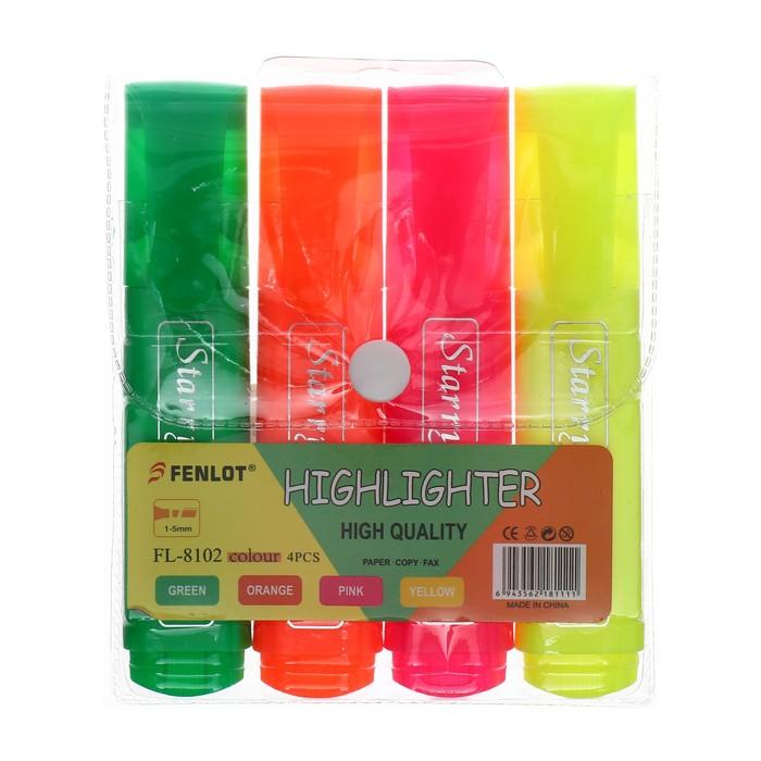 Набор маркеров текстовыделителей 4 цвета 5 мм