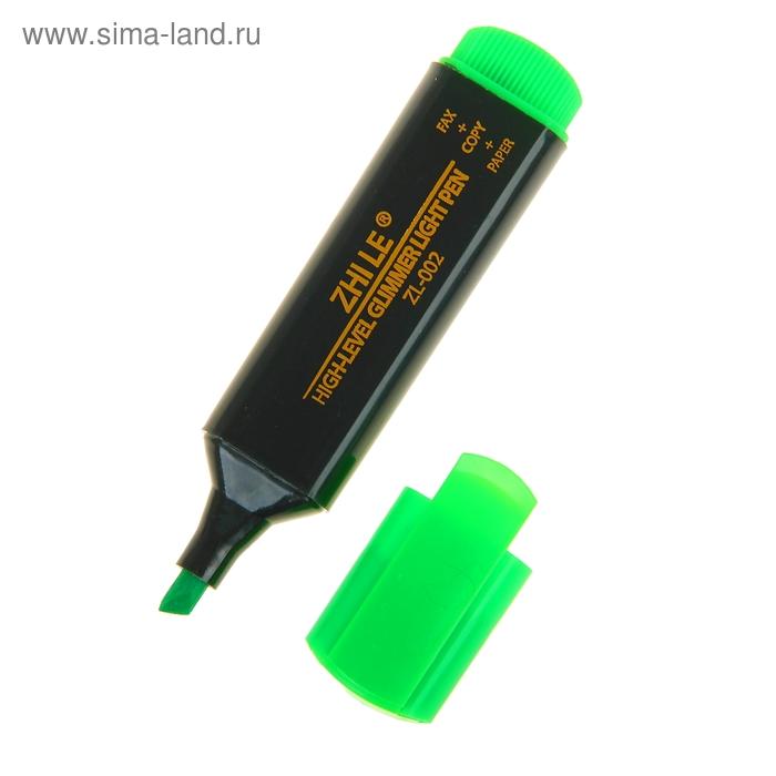 Маркер текстовыделитель 5 мм Zhile зеленый