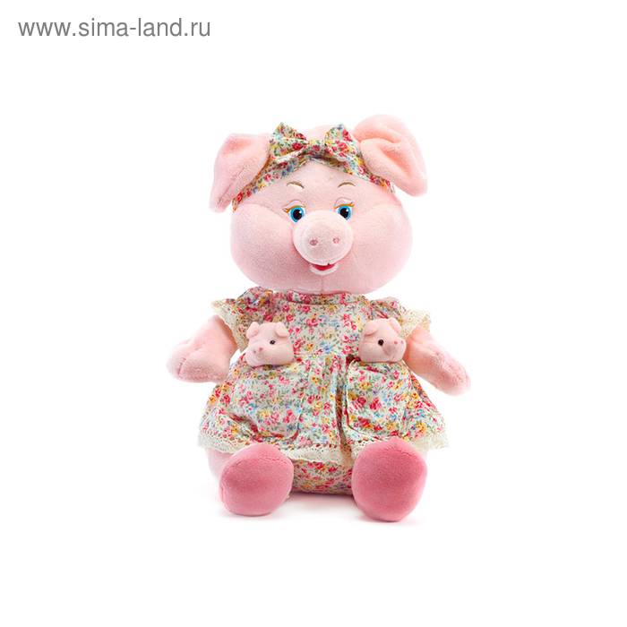 Мягкая игрушка «Свинка с поросятами» музыкальная