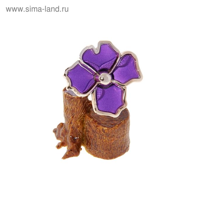 """Денежное дерево """"Цветок"""", цвет сиреневый"""