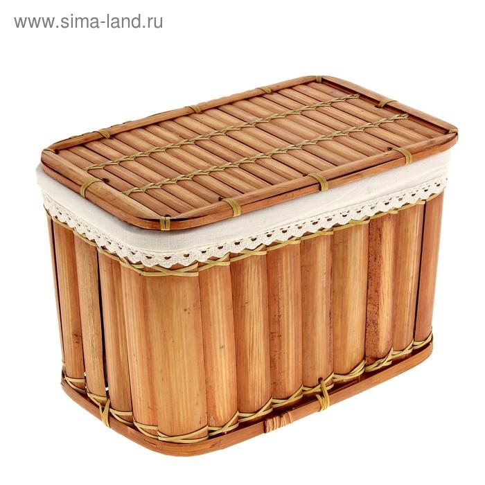 """Корзина с крышкой """"Пикник"""" из бамбука"""