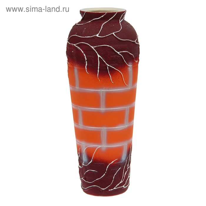 "Ваза напольная ""Арго"" оранжевая, микс"
