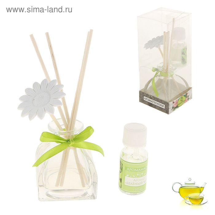 """Подарочный набор с аромамаслом """"Композиция"""" 10 мл, аромат зелёный чай"""
