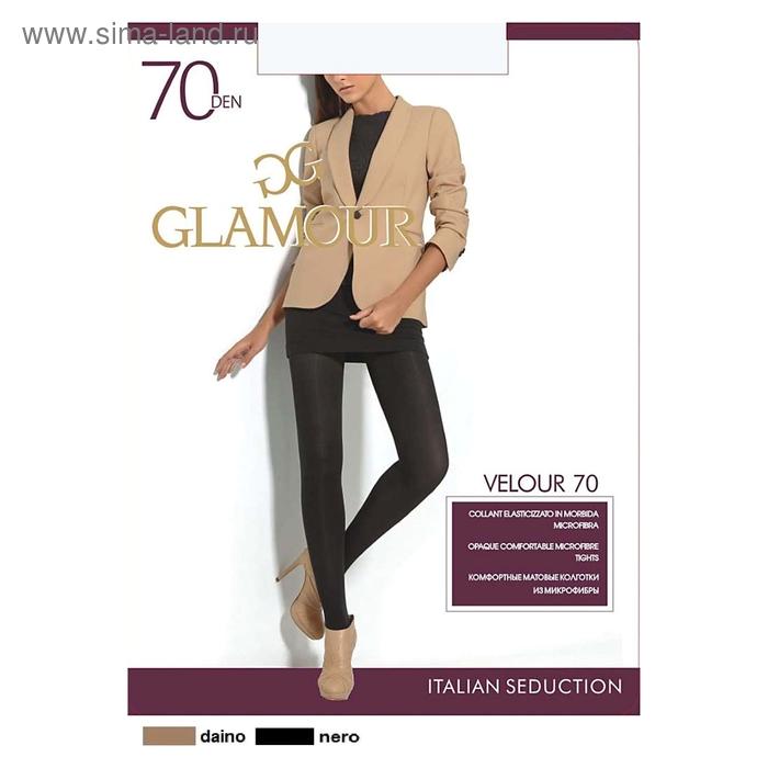 Колготки женские GLAMOUR Velour 70 (cappuccino, 4)
