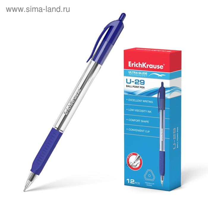 Ручка шариковая автомат Erich Krause Ultra Glide Technology U-29, стержень синий, узел 0.6мм, EK 33568