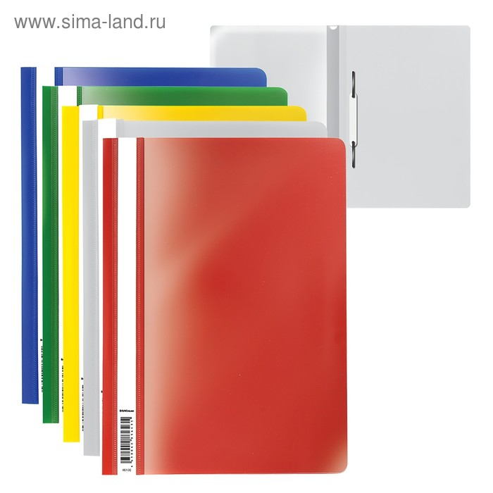 Папка-скоросшиватель А4, Semi-Clear Economy, 5 видов МИКС, EK 30656