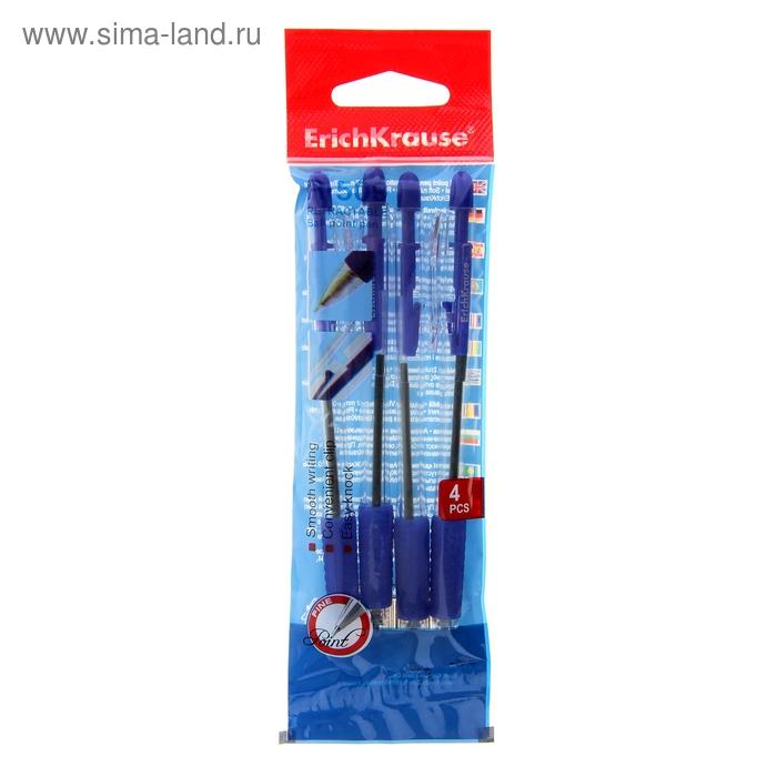 Набор ручек шариковых автоматических 4 штуки R-509 стержень синий, узел 0.7мм, EK 35674