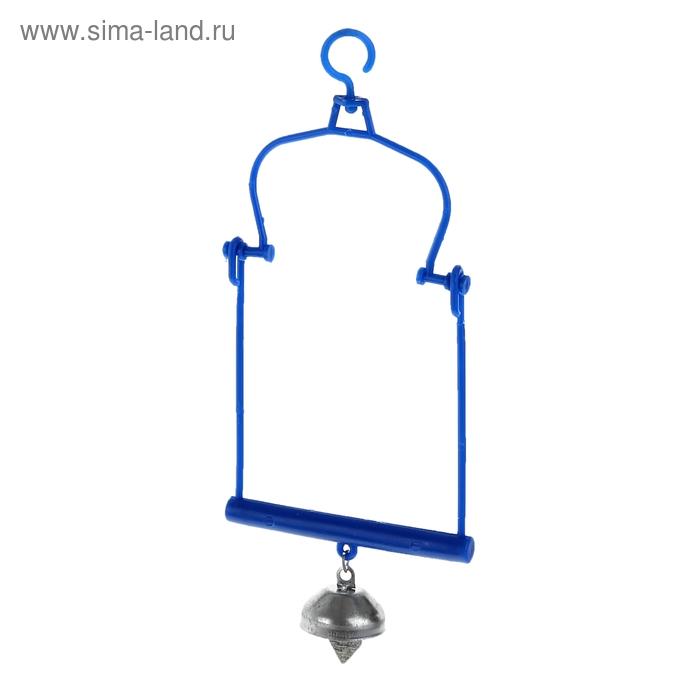 Игрушка для птиц качели с металлическим колокольчиком