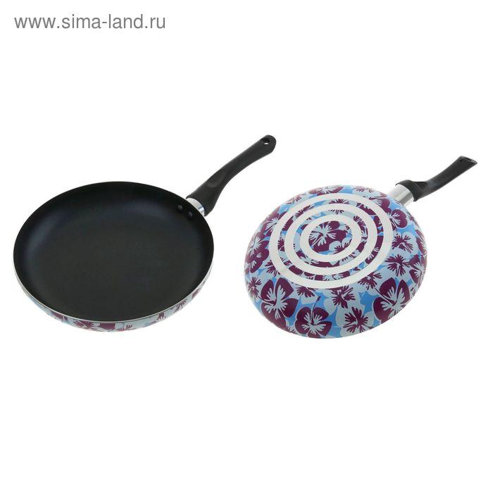 """Сковорода с антипригарным покрытием 22 см """"Анютины глазки"""", толщина 1,8 мм"""