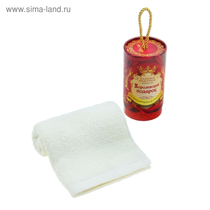 "Полотенце ""Collorista"" Королевский подарок 30х70 см, хлопок, 380 гр/м2"