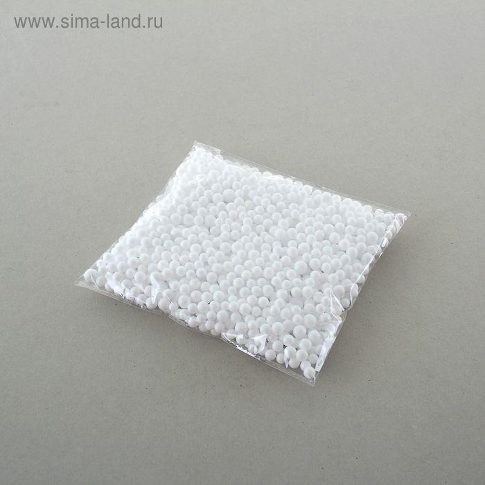 Наполнитель декоративный, шарики d=0,8 см, цвет белый