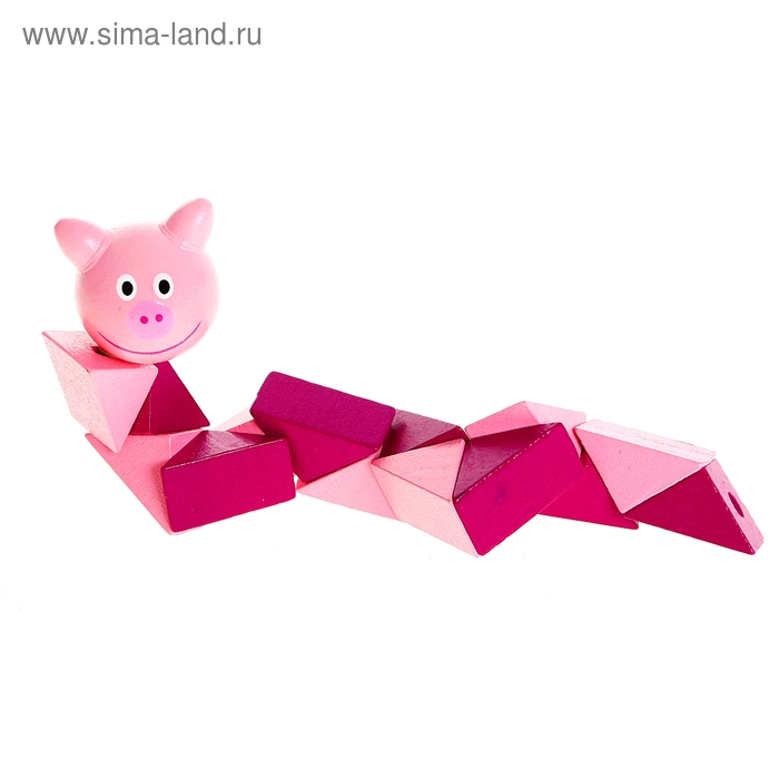 """Головоломка - змейка """"Свинка"""""""