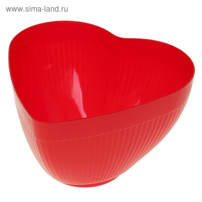 """Салатник 3,5 л """"Сердце"""", цвета МИКС"""