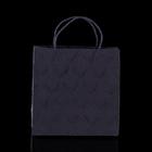 """Пакет подарочный """"Париж"""", чёрный, 8 х 20 х 20 см"""