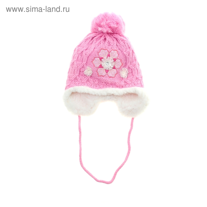 Шапка дет.зимняя Мальвина, объем головы 48-52см (2-4года), цвет розовый