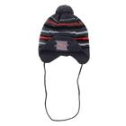Шапка дет. зимняя Дизайн, объем головы 48-52см (2-4года), цвет серый