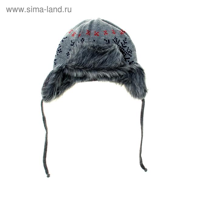 Шапка дет.зимняя Снеговик, объем головы 54-56см (5-8лет) МИКС
