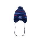 Шапка дет. зимняя Дизайн, объем головы 48-52см (2-4года), цвет синий