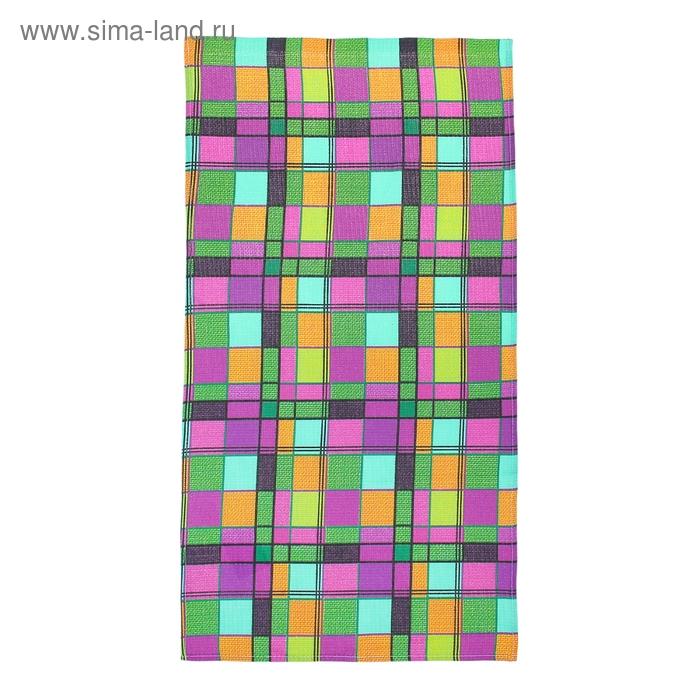 """Полотенце вафельное """"Клетка"""", размер 40х75 см, 160 гр/м2, цвет сиреневый"""