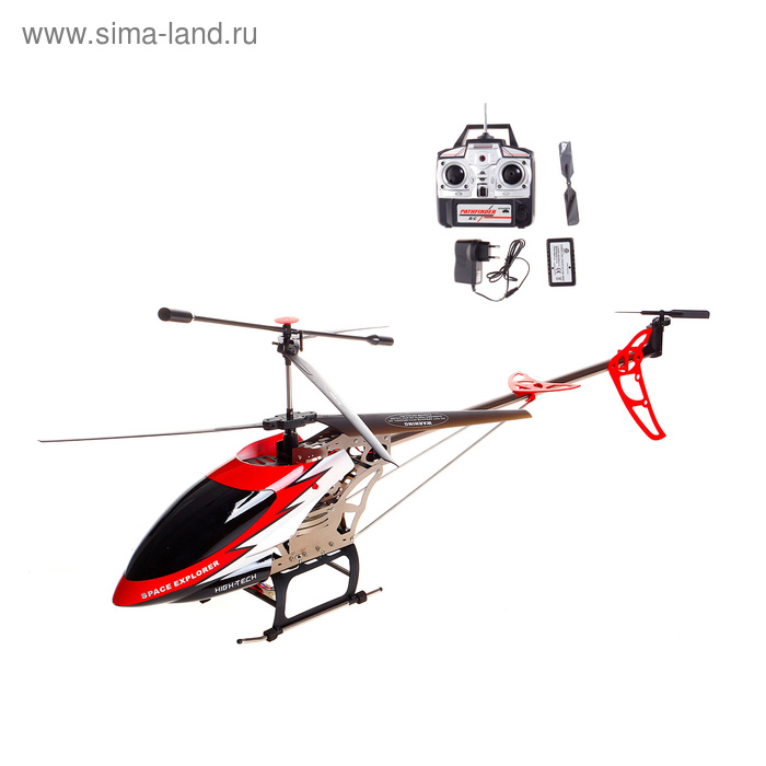 """Вертолёт радиоуправляемый """"Воздушный путешественник"""" с аккумулятором, цвета МИКС"""
