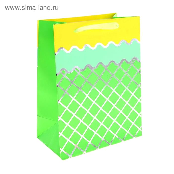 """Пакет ламинированный """"Сетка"""", цвет зеленый"""
