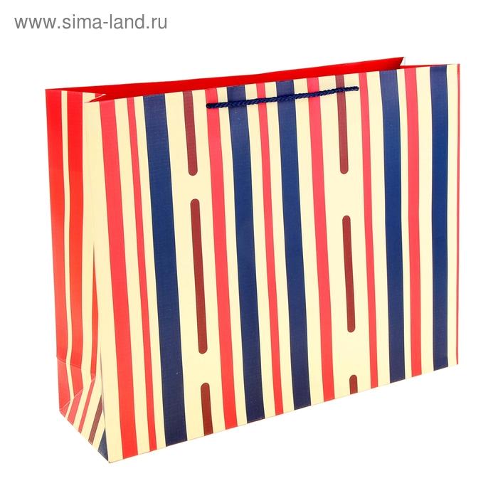 """Пакет ламинированный """"Пунктир"""", полоска красная"""