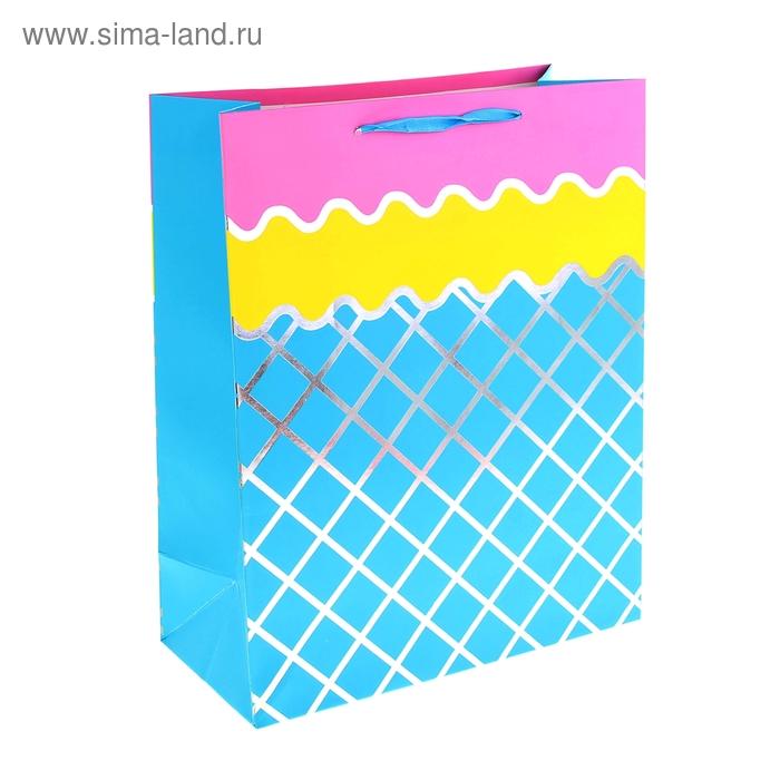 """Пакет ламинированный """"Сетка"""", цвет голубой"""