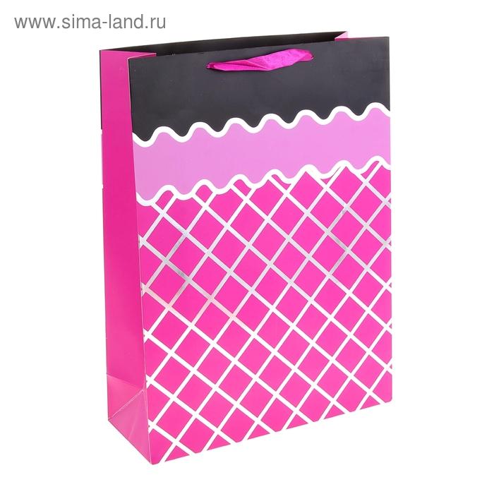 """Пакет ламинированный """"Сетка"""", цвет розовый"""