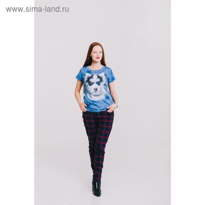 Футболка женская Collorista 3D Husky, размер XL(50), цвет синий