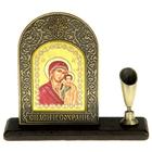 """Подставка для ручки с иконой """"Казанская икона Божией Матери"""""""