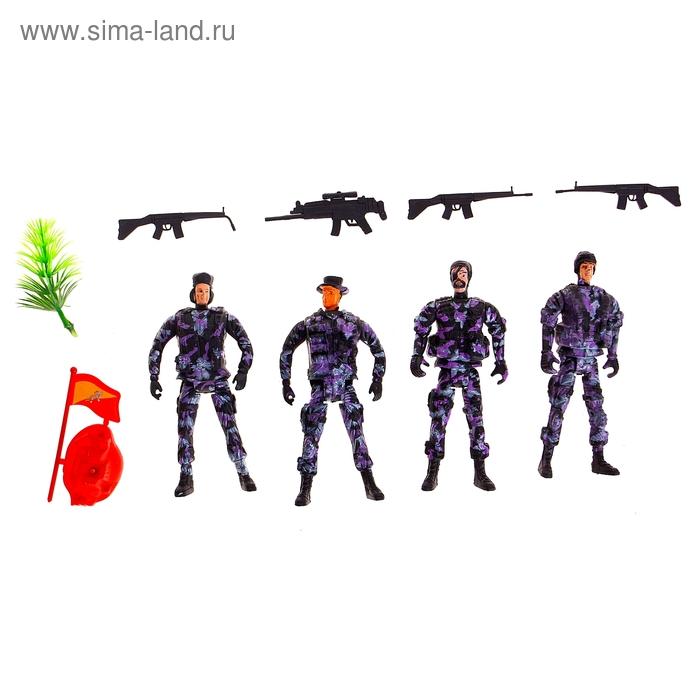 """Солдатики """"Спецназ"""", набор 4 шт"""