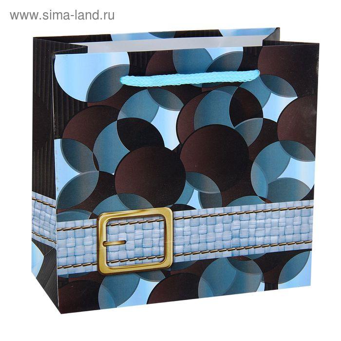 """Пакет ламинированный """"Ремешок"""", цвет голубой"""