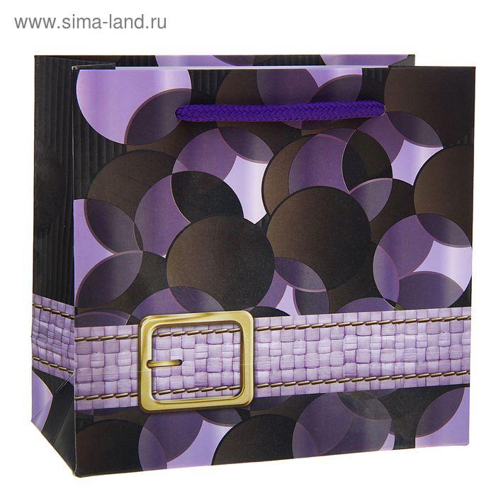 """Пакет ламинированный """"Ремешок"""", цвет сиреневый"""