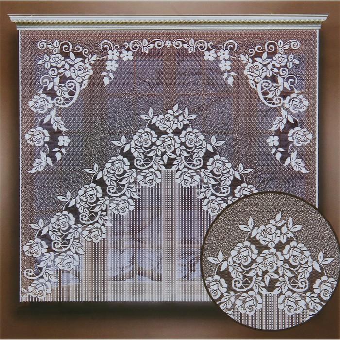 Штора без шторной ленты, ширина 170 см, высота 155 см, цвет белый