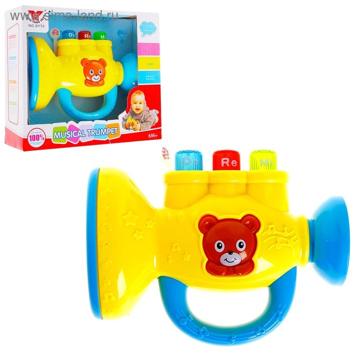 """Музыкальная игрушка """"Труба"""", звуковые эффекты,световые эффекты, работает от батареек"""