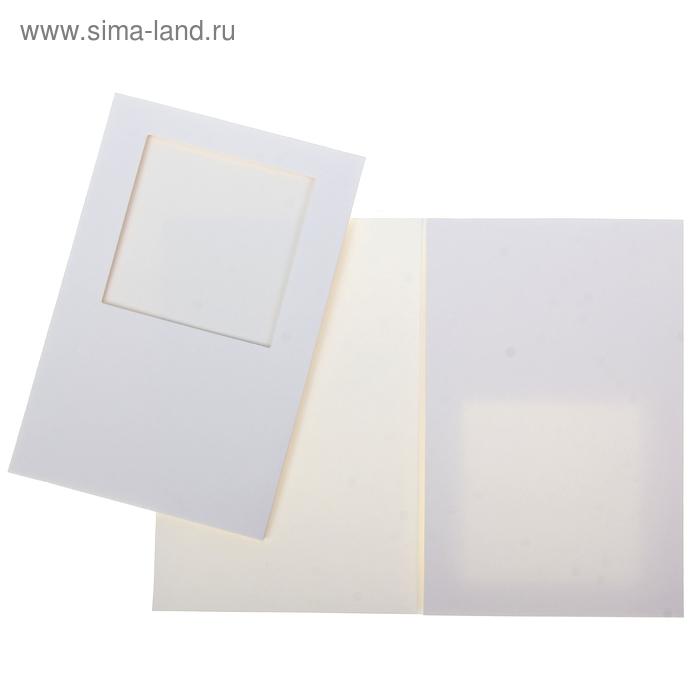 Открытка заготовка с квадратным окном
