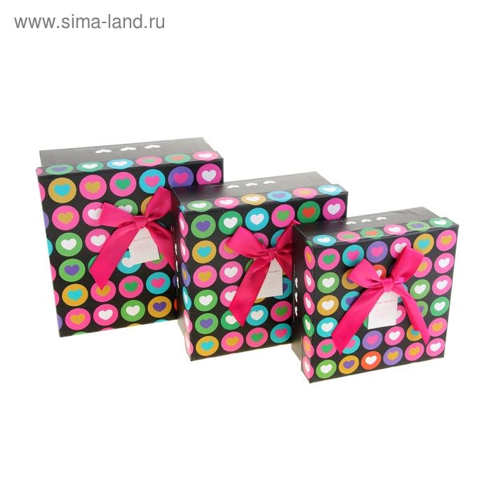 """Набор коробок 3в1 """"Чувство влюблённости"""", цвет чёрный"""