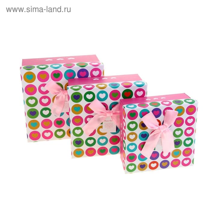 """Набор коробок 3в1 """"Чувство влюблённости"""", цвет розовый"""