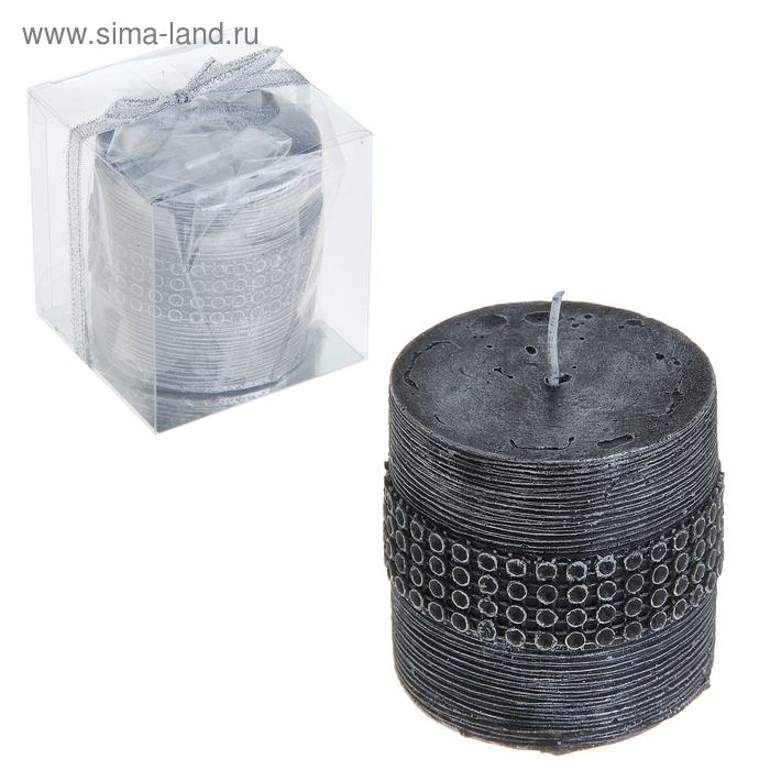 """Свеча восковая """"Декоративный поясок"""", цвет серый"""